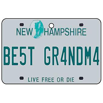 New Hampshire - beste oma License Plate auto luchtverfrisser