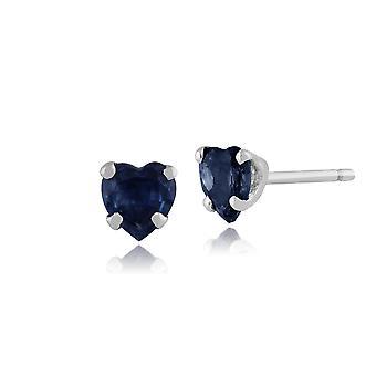 Gemondo oro bianco 9ct 0,66 ct orecchini cuore blu zaffiro Kanchanaburi