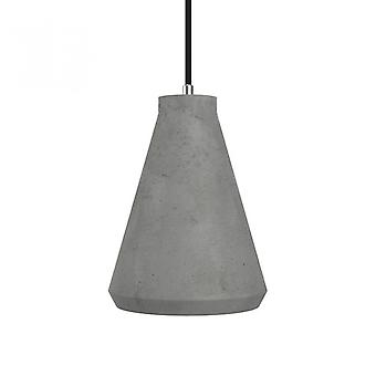 Concrete Funnel Pendant Light