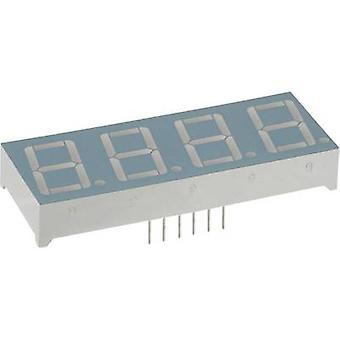 Seven-segment display Red 14.22 mm 1.8 V No. of digits: 4