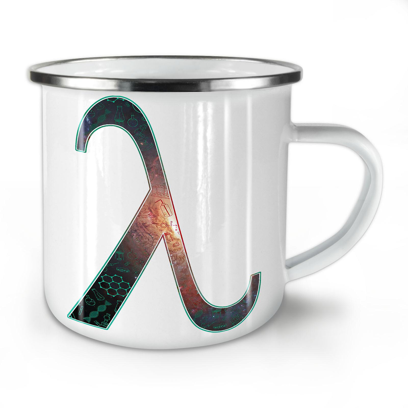 Space Smart Lambda Mug10 OzWellcoda Enamel Whitetea Geek Coffee New 54ASLc3Rqj