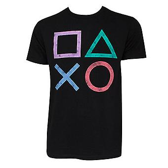 PlayStation Controller knap Logo sort Tee Shirt
