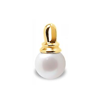 Pendant Pearl of Culture of water soft white and yellow gold 375/1000
