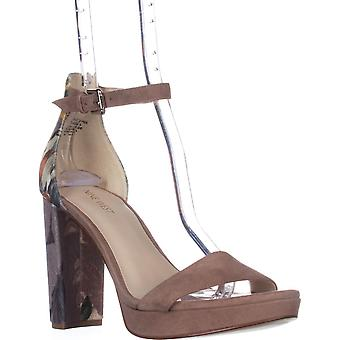 Nine West Dempsey Ankle Strap Dress Sandals, Taupe Multi/Natural