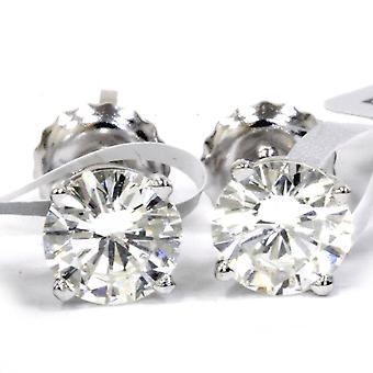1 1/20ctW Round Brilliant Diamond Screw Back Studs IGI Certified