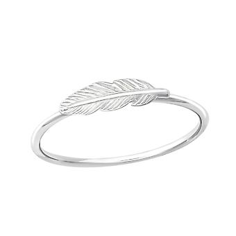 Feather - 925 Sterling Silver Plain Rings - W35769x