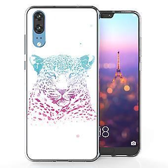 Huawei P20 Leopard Splash TPU Gel geval