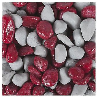 Tyrol Varnished Fuchsia Grey Mixed Gravel (Fish , Decoration , Gravel & sand)