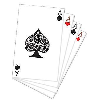 Hand des Karten-Karton-Ausschnitt