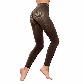 Solidea Silver Wave Long Ladies Compression Leggings [Style 355A5] Blu Navy (Navy)  S