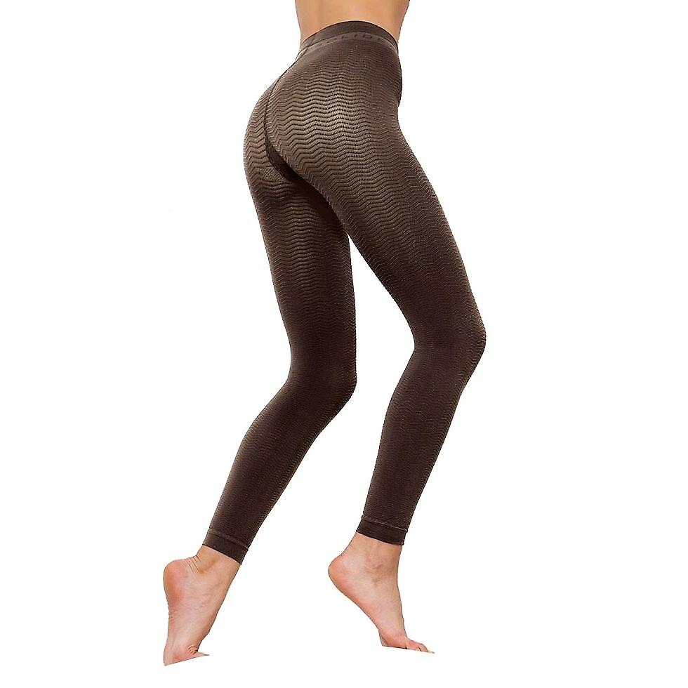 Solidea Silver Wave Long Ladies Compression Leggings [Style 355A5] Fumo (Dark Grey)  ML