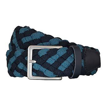 BRAX Gürtel Herrengürtel Textil Flechtgürtel Blau/Hellblau 5406