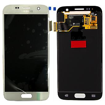تعيين عرض LCD كاملة بيضاء سامسونج Galaxy S7 G930 G930F GH97 18523D