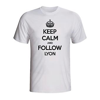 Keep Calm And Follow Lyon T-shirt (white)