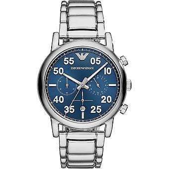 Armani Watches Ar11132 Blue Sunray Dial & Silver Stainless Steel Chronograph Men's Watch