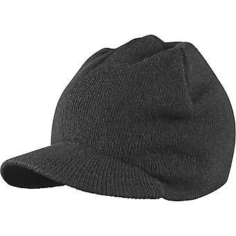 Urban classics - VISOR Beanie winter Hat Black