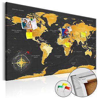 Picture on cork - Golden World [Cork Map]