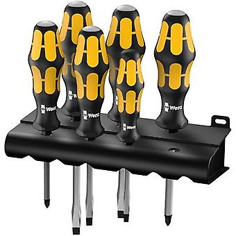 Destornillador de taller set 6 piezas Wera 932/6 ranura, Phillips
