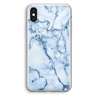 iPhone XS Transparant Case (Soft) - Blue marble