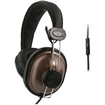 UMA - DJ stil universell 3,5 mm hörlurar med handsfree-kontroller - Brown