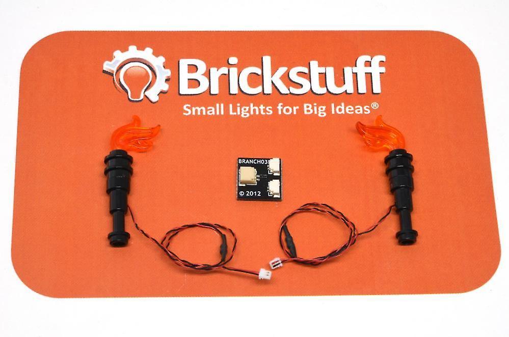 Brickstuff Orange LED Light Flickering Torch 2-Pack QK2F-2PK