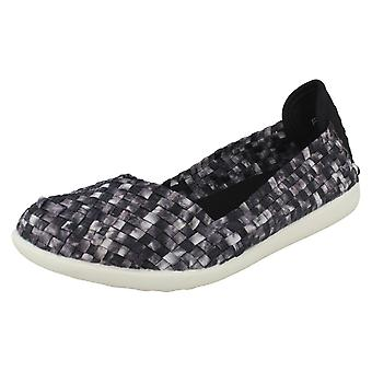 Ladies Down To Earth Flat Slip On Weaved Shoes F80218   *** WAITING FOR PHOTOS ***