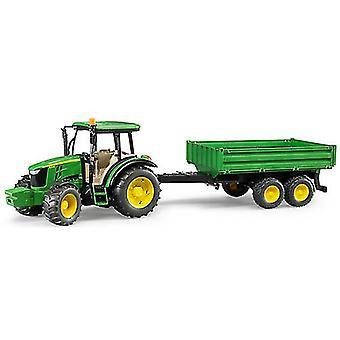 Bruder John Deere 5115 M Traktor mit Anhänger