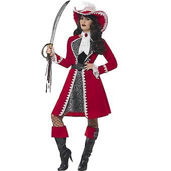 Deluxe Authentic Lady Captain Costume, Medium