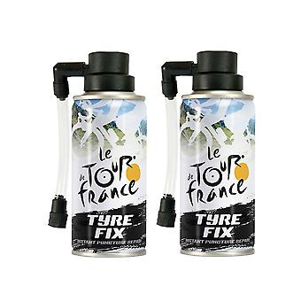 Le Tour de France TDF Bike Tyre fix kit - Instant puncture repair 2 x 200ml