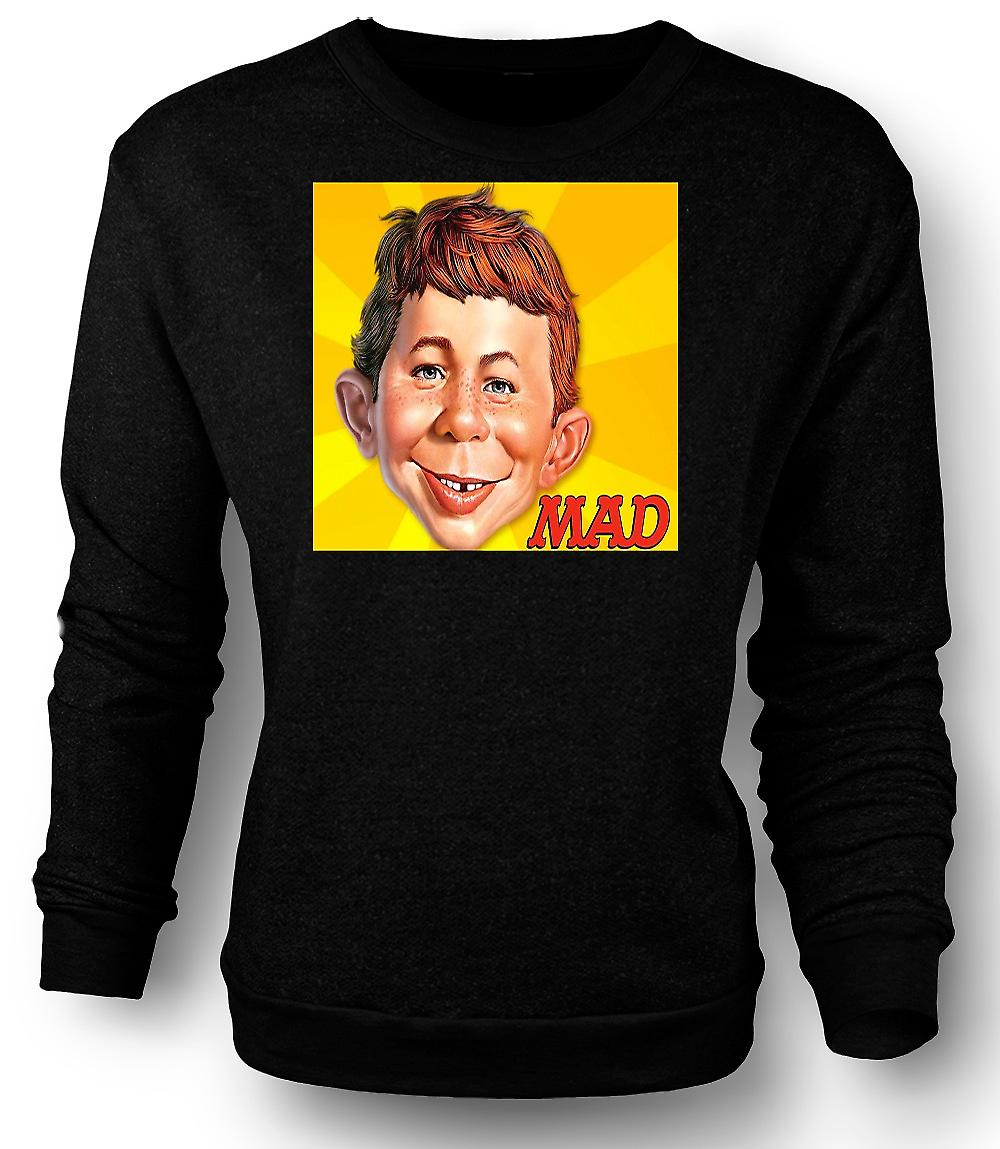 Mens Sweatshirt Mad Satiracal - grappig