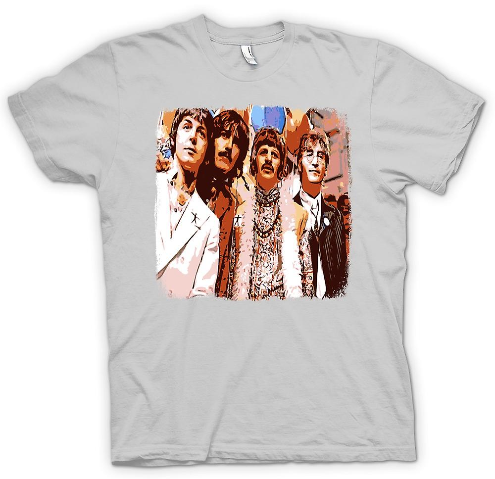 Mens t-skjorte - Beatles - Pop Art - 60s