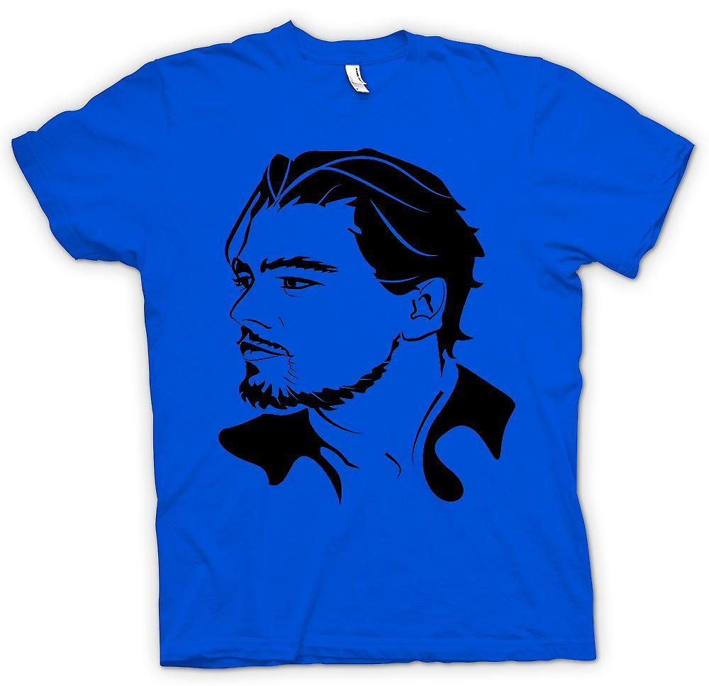 Mens t-skjorte-Leonardo Dicaprio portrett