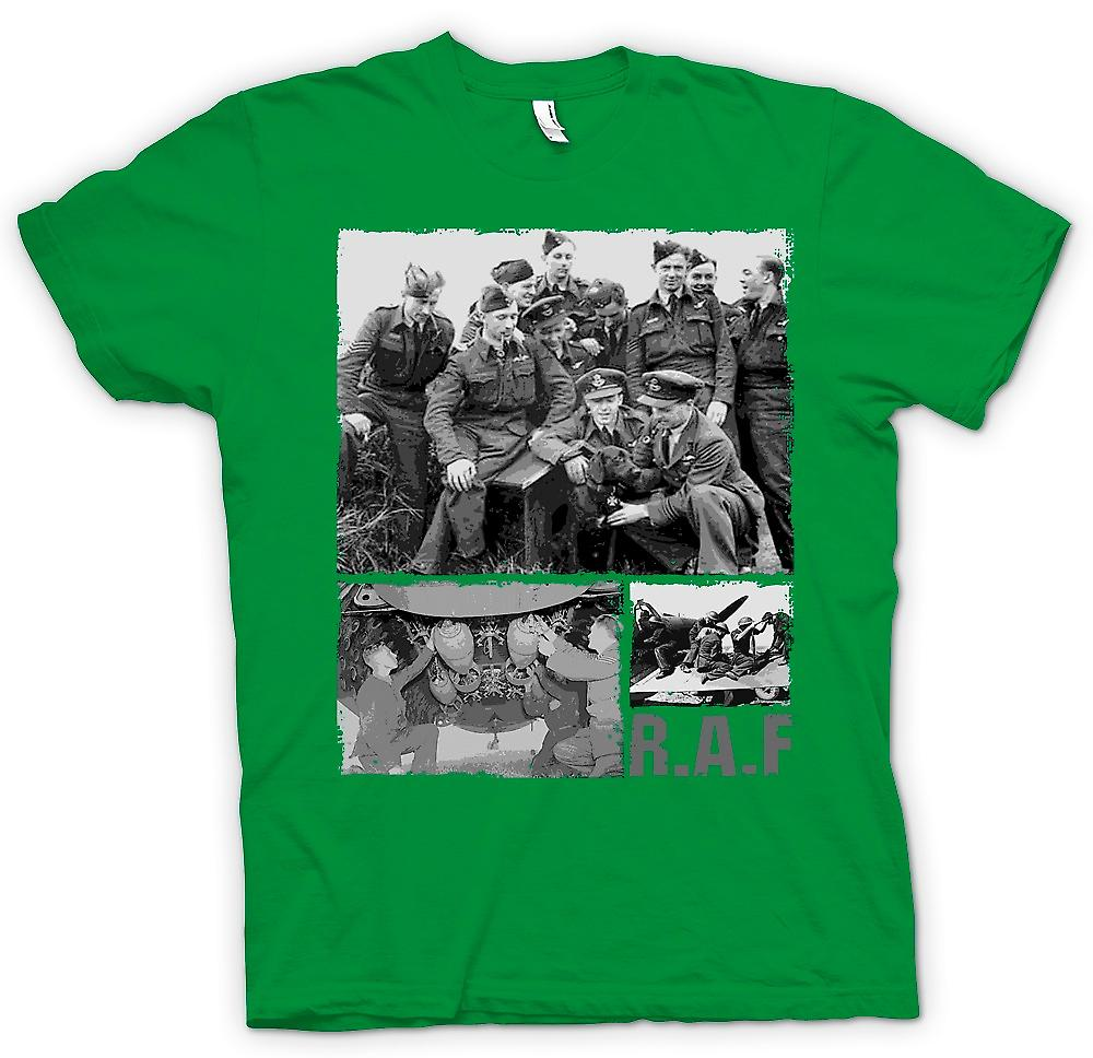 Mens T-shirt-RAF Royal Airforce - World War 2