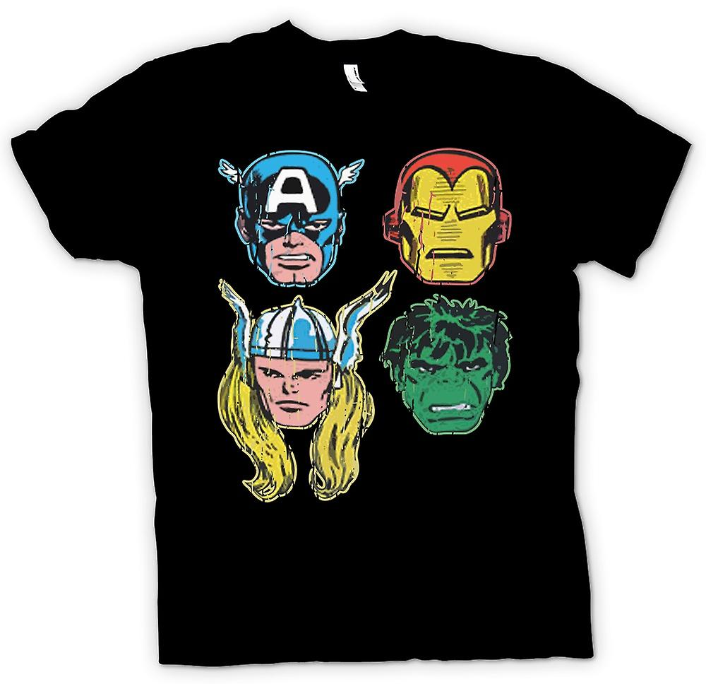 T-shirt-Avengers Cartoon supereroe - capitano - Iron Man - Thor - Hulk
