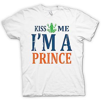 Kiss Me Im A Prince - Funny - 100% Cotton Short Sleeve Ladies T Shirt