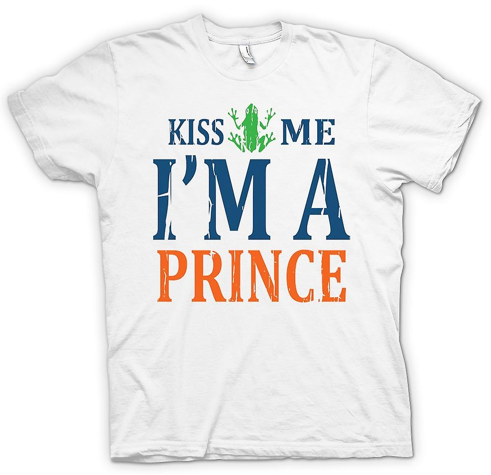 T-shirt - Kiss Me Im A Prince - divertente