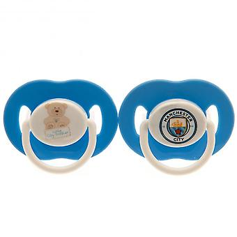 Manchester City FC Official Soothers (Pack Of 2)