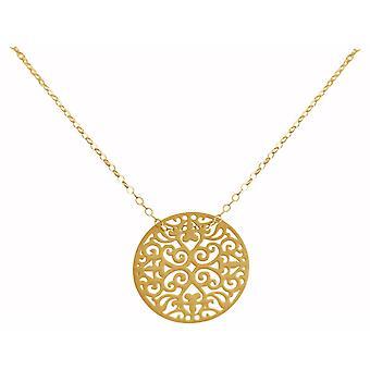 Gemshine mandala sirkel rundt damer sølv halskjede yoga, høykvalitets, gullbelagt eller rose - bærekraftig, kvalitet smykker laget i Spania