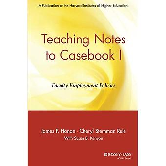 Teaching Notes Casebook I: A Guide for Faculty and Administrators (Education)