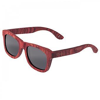 Spectrum Irons hout gepolariseerde zonnebril - Cherry/zwart
