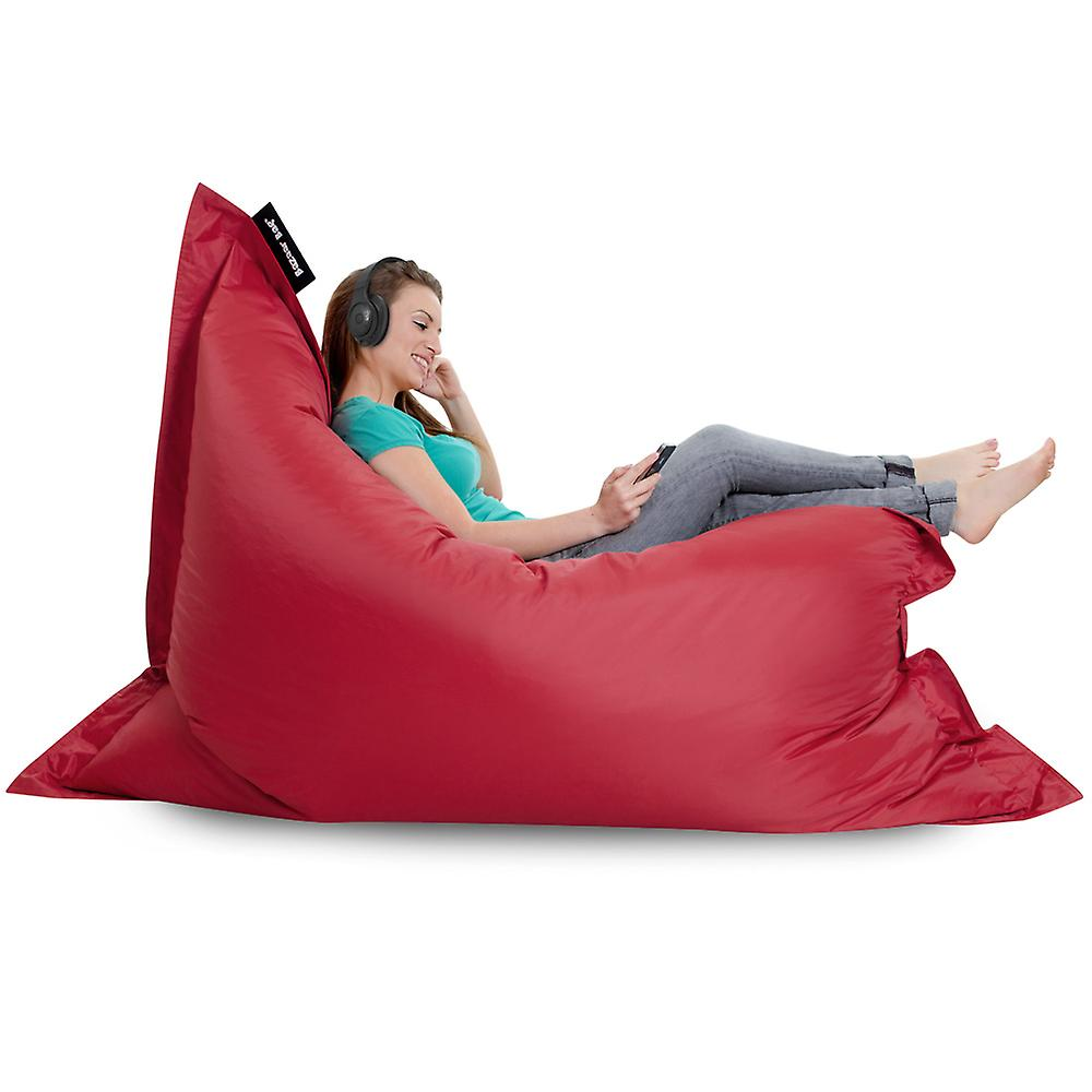 Bazaar Bag® - Giant Beanbag - Brick Red, 180cm x 140cm - Indoor Outdoor Garden Floor Cushion Bean Bags