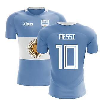 2018-2019 Argentina bandera concepto fútbol camiseta (Messi 10) - niños