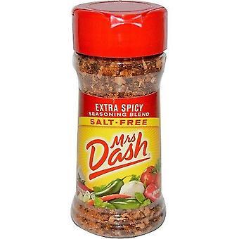 Fru Dash ekstra krydret blanding Salt uten krydder blanding 2,5 oz flaske