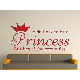 A Princess v2 Wall Art Sticker - dunkelrot zu sein