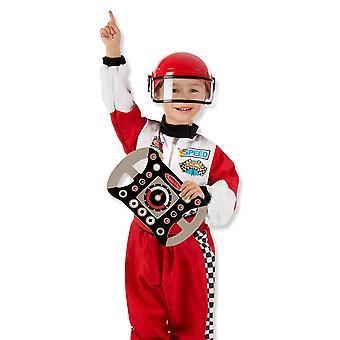 Melissa i Doug Childrens kierowca wyścigowy Fancy Dress kostium (wiek 3-6) z akcesoriami