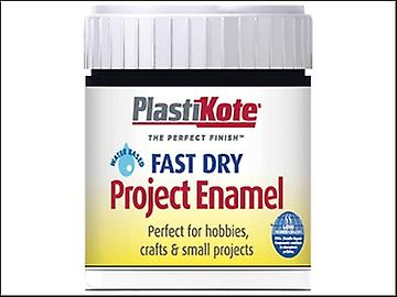Plasti-kote Fast Dry Enamel Paint B1 Bottle Black Gloss 59ml
