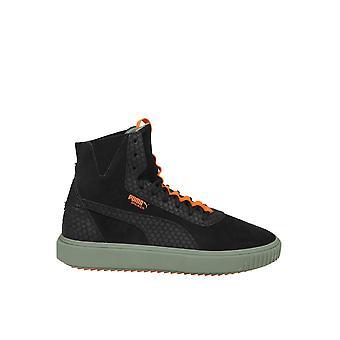 PUMA schwarz Leder Hi Top Sneaker