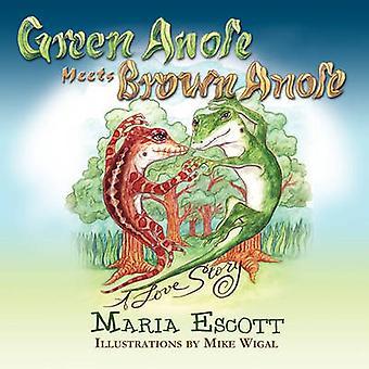 Anole vert répond Anole brun A Love Story par Escott & Maria