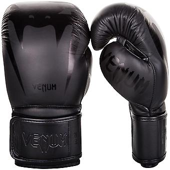 Venum Giant 3.0 Hook and Loop MMA Training Gloves - All Black