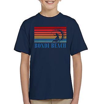 Bondi Beach Retro 70s Surf Silhouette Kid's T-Shirt